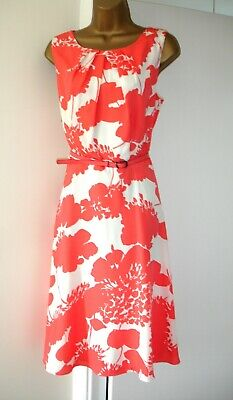£10 • Buy Stunning MONSOON Coral/White Floral Dress - Size 14 - BNWT (£79)