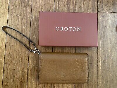 AU20 • Buy Oroton Cognac Avalon Clutch Wallet
