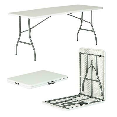 £11.49 • Buy 6ft Folding Desk - Pop-Up Portable Trestle Table - Garden Camping Party Picnic