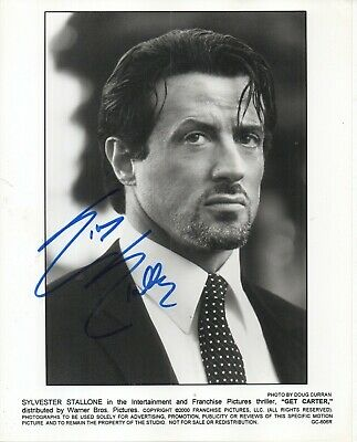 £74.99 • Buy SCARCE SYLVESTER STALLONE 'ROCKY GET CARTER' HAND SIGNED AUTOGRAPHED 8x10 PHOTO