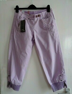 £9.99 • Buy Ladies Women Lovely Murphy & Nye Spring Summer Crop Cuffed Trousers Size 10 - 12