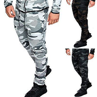 £14.59 • Buy Mens Camouflage Camo Jogging Pants Tracksuit Bottoms Joggers Trousers Sweatpant