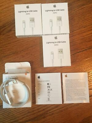 AU17.96 • Buy 3X Genuine Original OEM Apple IPhone 5 X 8 7 6S Lightning USB Cable Charger