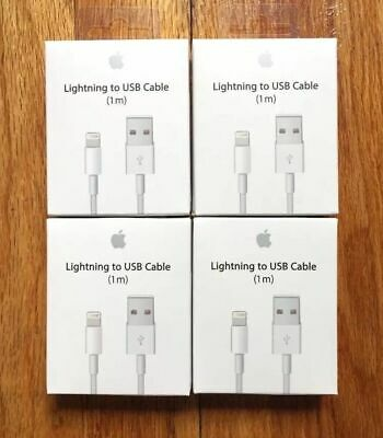 AU20.53 • Buy 4X Genuine Original OEM Apple IPhone X 8 7 6S Plus 5 Lightning USB Cable Charger