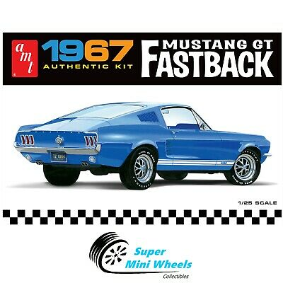 AU40.75 • Buy AMT 1967 Ford Mustang GT Fastback 1:25 Scale Model Kit - AMT1241