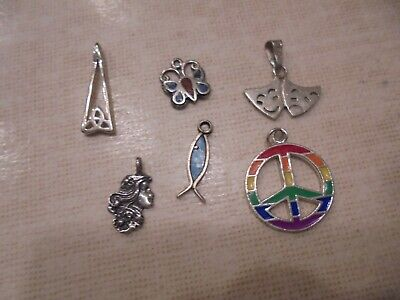 $ CDN22.99 • Buy Sterling Silver   Stones  Charms Pendants   Mixed Jewelry Lot  Wear Resell