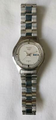 $ CDN144.89 • Buy Vintage Seiko 5 Watch French English Day Date Automatic 7009-8028 Original Strap