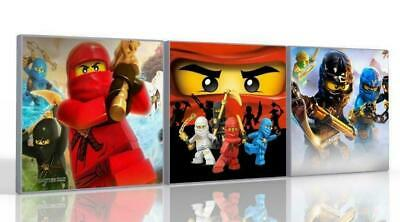 £15.99 • Buy Lego Ninjago 3 X Canvas Pictures , Wall Art Decoration  , Available In 4 Sizes