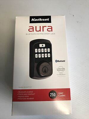 $ CDN72.58 • Buy Kwikset Aura Bluetooth Keypad Smart Lock 99420-002 Venetian Bronze BRAND NEW