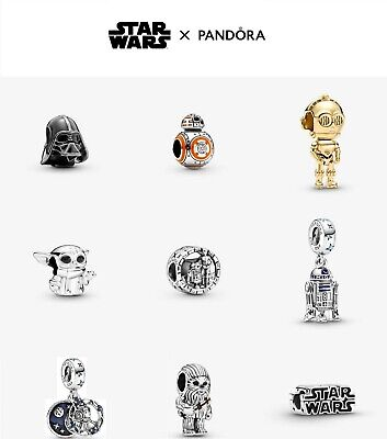 £11.95 • Buy New Genuine Pandora Silver Sterling Star Wars Charm Collection ALE 925 + Free Gi
