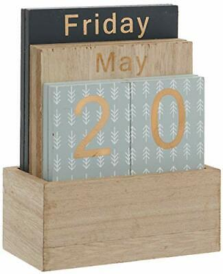 £11.35 • Buy Wooden Perpetual Calendar With Holder H830