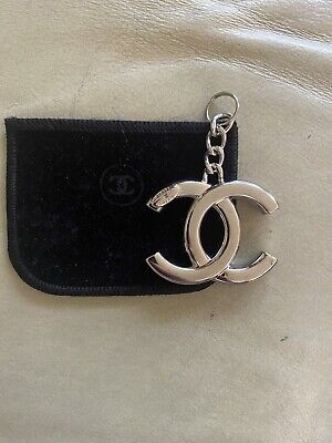 £212.39 • Buy NEVER USED Authentic CHANEL Bag Charm Key Ring Silver - STAMPED