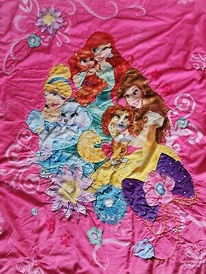 £14.49 • Buy DISNEY PRINCESS WITH PUPPYS BLANKET 56 X 42 Inches Approx. PINK REVERSIBLE