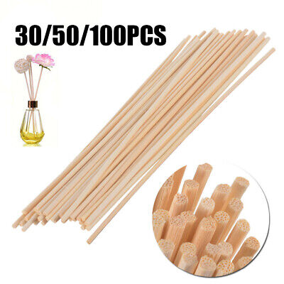 AU13.39 • Buy 30x/50x/100x Rattan Reed Diffuser Sticks For Fragrance Aroma Oil Home Bedroom