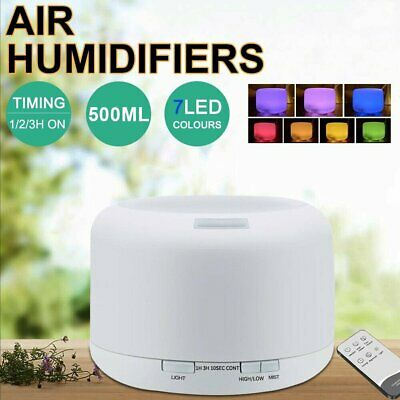 AU22.90 • Buy 500ml Essential Oil Aroma Diffuser LED Ultrasonic Air Mist Aromatherapy 2021 NEW