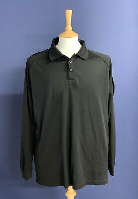 £20.99 • Buy British Police Force Black Tactical Polo Shirt. Size XL. 46  Chest. Long Sleeves