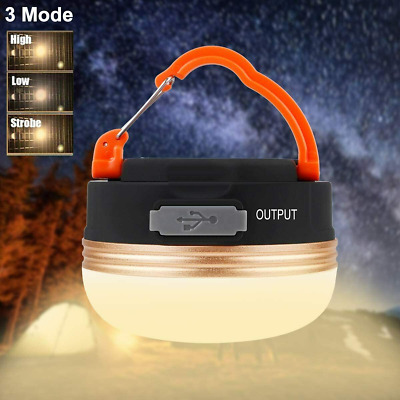 £10.89 • Buy LED Camping Light Lamp Tent Lantern Super Bright Outdoor USB Rechargeable