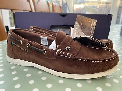"""£20 • Buy Dubarry Mens """"leeward"""" Boat Shoes In Brown Suede Size 6.5 40 New Boxed ⚓️"""