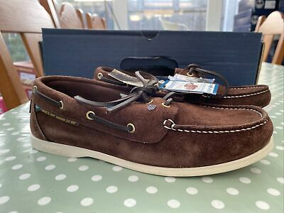 """£25 • Buy Dubarry Mens """"windward"""" Boat Shoes In Brown Suede Size 6.5 40 New Boxed"""