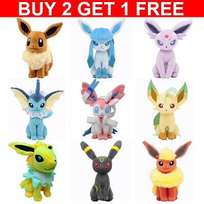 AU16.88 • Buy Rare Pokemon Collectible Plush Doll Character Soft Toy Stuffed Teddy Best Gifts