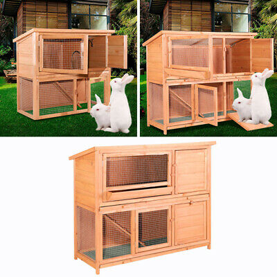 £69.95 • Buy 4Ft Large Double Rabbit Hutch / Guinea Pig Run / Deluxe Pet Hutches / Cage Pets