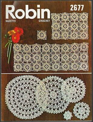 £2.15 • Buy Robin 2677: Runner, Place & Wine Mats And A Set Of Doilies