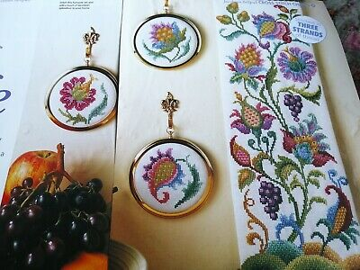 £1.50 • Buy Cross Stitch Chart Jacobean Style Flowers Floral Bellpull Motif Charts Only