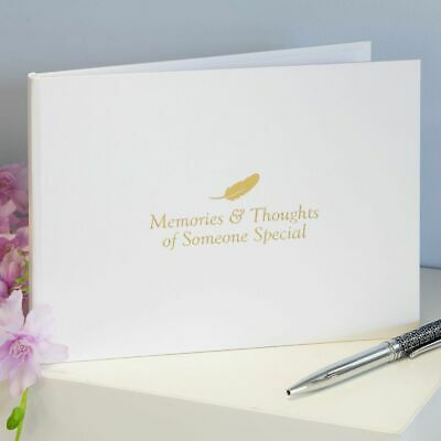 £12.99 • Buy Thoughts Of You Book Of Condolence, Memorial Guest Book, Funeral / Wake, Tribute