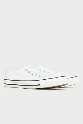 £18.98 • Buy Yours Women's White Canvas Low Trainers In Wide Fit White Size