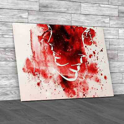 £12.95 • Buy Faces Paint Splat Red Canvas Print Large Picture Wall Art