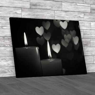 £12.95 • Buy Love Romantic Candles Black White Canvas Print Large Picture Wall Art
