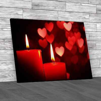 £16.95 • Buy Love Romantic Candles Canvas Print Large Picture Wall Art