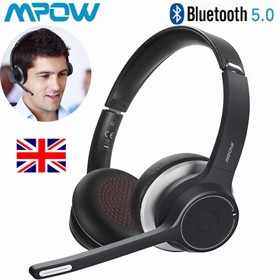 £31.34 • Buy Mpow Bluetooth Wireless Headset With Dual Microphone For Computer Call Center