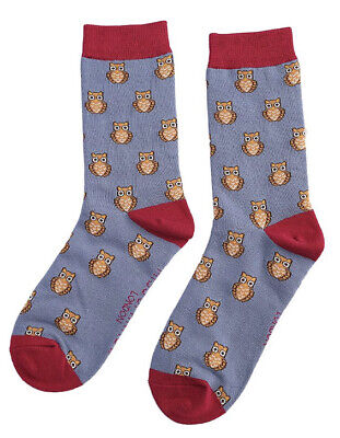 £6.25 • Buy Miss Sparrow Ladies Bamboo Socks Owls In Blue Novelty One Size 4-7