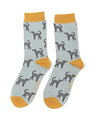 £5.50 • Buy Miss Sparrow Ladies Bamboo Socks Greyhounds In Duck Egg Novelty One Size 4-7