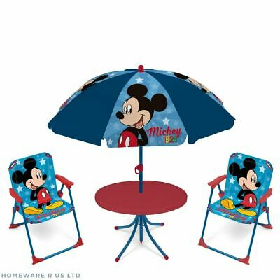 £69.99 • Buy Childrens Kids Mickey Mouse Garden Patio Table & Chairs Set Parasol 2 Chair 3+