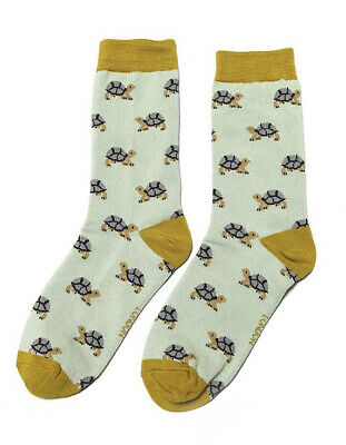 £5.50 • Buy Miss Sparrow Ladies Bamboo Socks Turtles In Duck Egg Novelty One Size 4-7