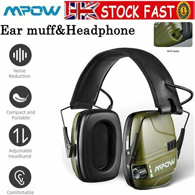 £29.99 • Buy Mpow Electronic Ear Defenders Shooting Earmuffs Hearing Protection Headphone AUX
