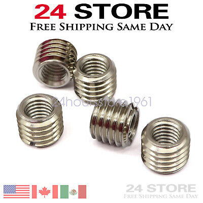 $10.29 • Buy 5 X THREAD ADAPTERS M12 12MM MALE TO M8 8MM FEMALETHREADED REDUCERS High Quality