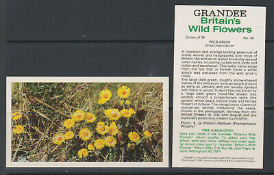 £2.50 • Buy CIGARETTE CARDS Players 1986 Britains Wild Flowers (Grandee) - Complete Set
