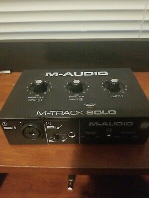 $34 • Buy M-Audio M-Track Solo 2-Channel USB Interface Streaming And Podcasting