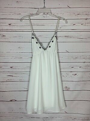 AU40.09 • Buy Ecote Urban Outfitters Women's M Medium White Black Embroidered Summer Dress