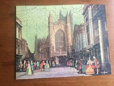 £17.99 • Buy NICE CHAD VALLEY 1920/30s GWR WOODEN JIGSAW  BATH  - COMPLETE!