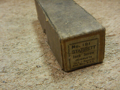 $59.99 • Buy Vintage Starrett Machinist Jack Screw With Box And Attachments