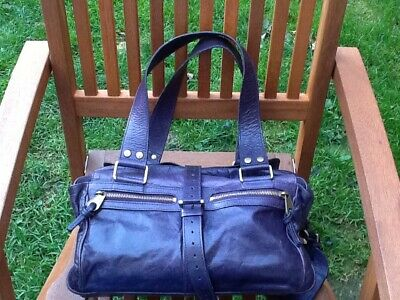 £225 • Buy MULBERRY Mabel Bag Purple Leather Suede Genuine Authentic
