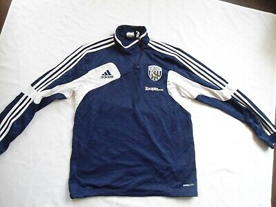 £2.99 • Buy Vintage West Bromwich Albion Football Adidas Zipped Training Shirt Med