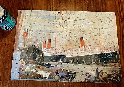 £14.95 • Buy Antique Chad Valley Cunard Wooden Jigsaw Puzzle Huskisson Dock Liverpool