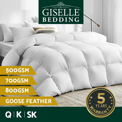 AU92.90 • Buy Giselle Goose Down Feather Quilt 500/700/800GSM Duvet Doona Winter All Season