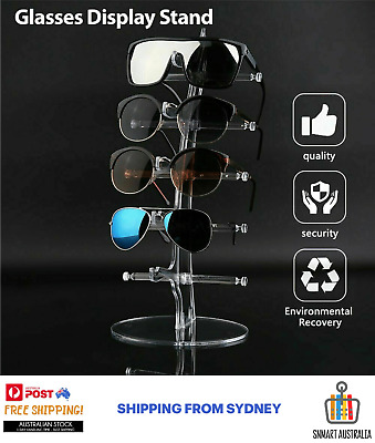 AU17.99 • Buy 5 Pair Rack Show Sunglasses Glasses Display Stand Holder Plastic Counter