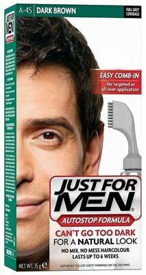 £25 • Buy 3x Just For Men Ultra Easy Comb In Autostop A45 Dark Brown Hair Colour Dye